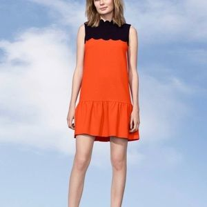 NWT Victoria Beckham Scalloped Dress 1X
